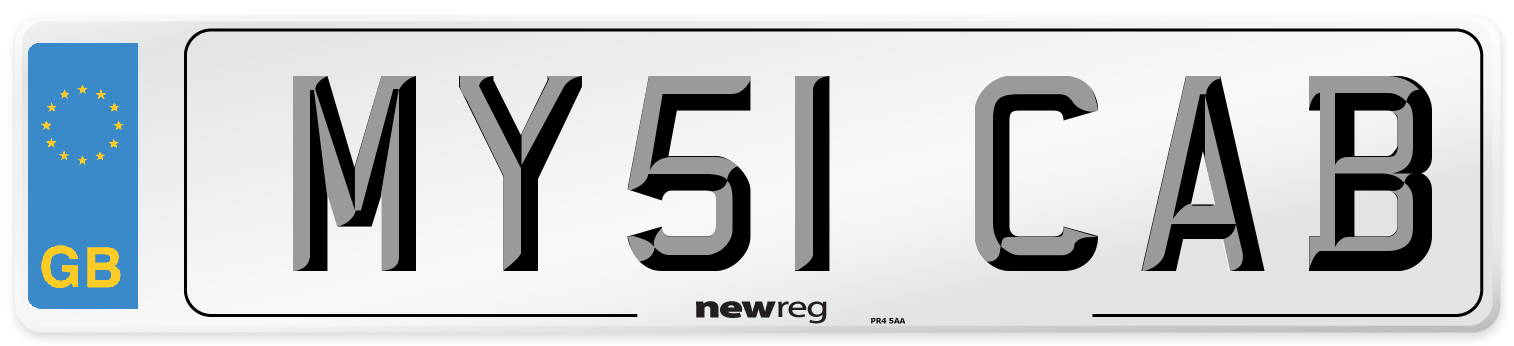 MY51 CAB Number Plate from New Reg
