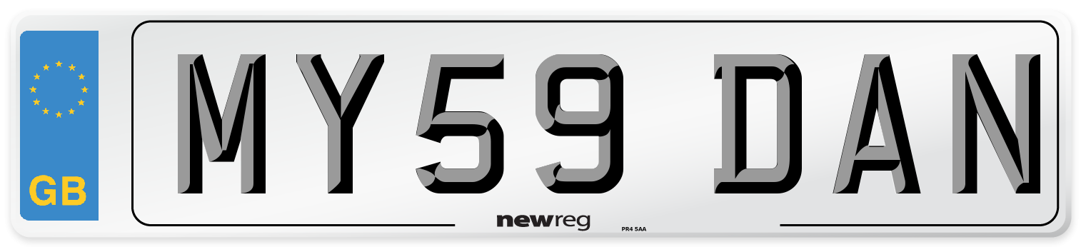 MY59 DAN Number Plate from New Reg