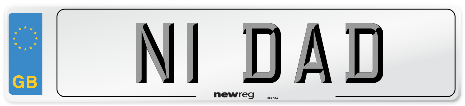 N1 DAD Number Plate from New Reg