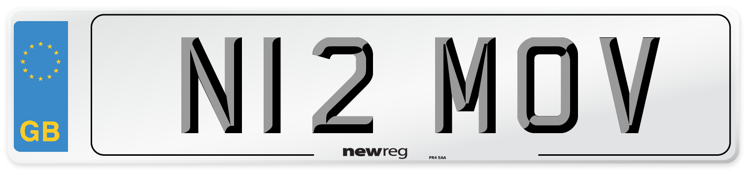 N12 MOV Number Plate from New Reg