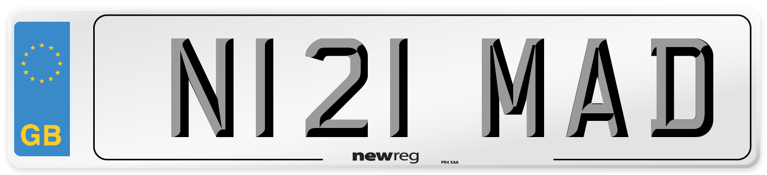 N121 MAD Number Plate from New Reg