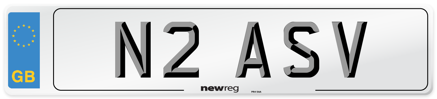 N2 ASV Number Plate from New Reg