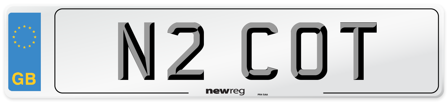 N2 COT Number Plate from New Reg