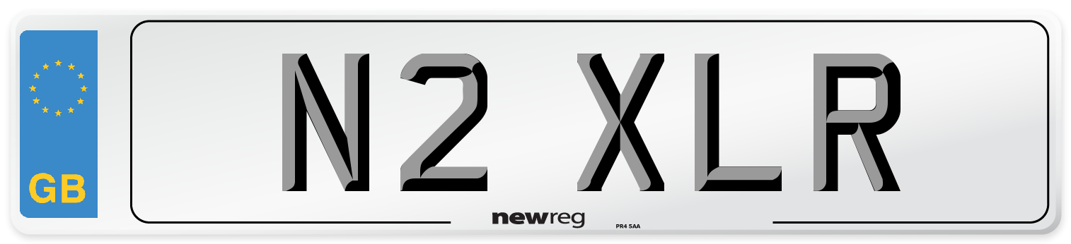 N2 XLR Number Plate from New Reg