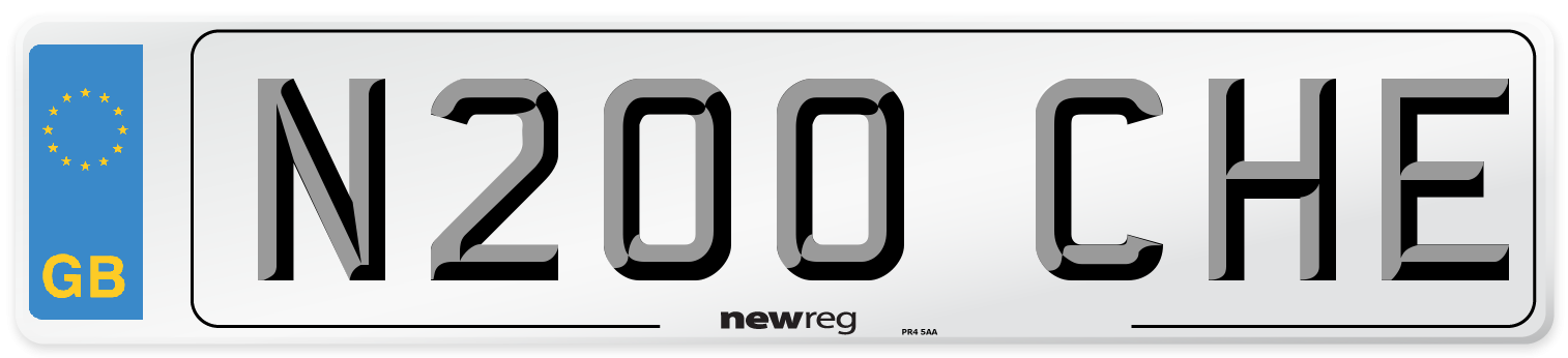 N200 CHE Number Plate from New Reg
