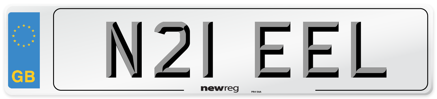 N21 EEL Number Plate from New Reg