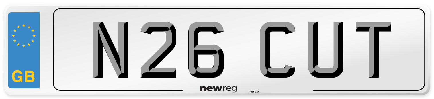 N26 CUT Number Plate from New Reg