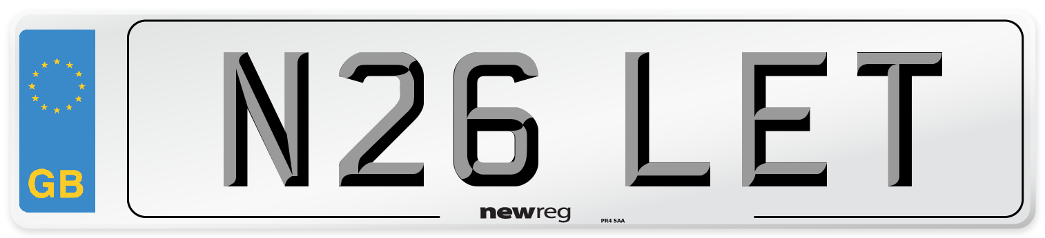 N26 LET Number Plate from New Reg