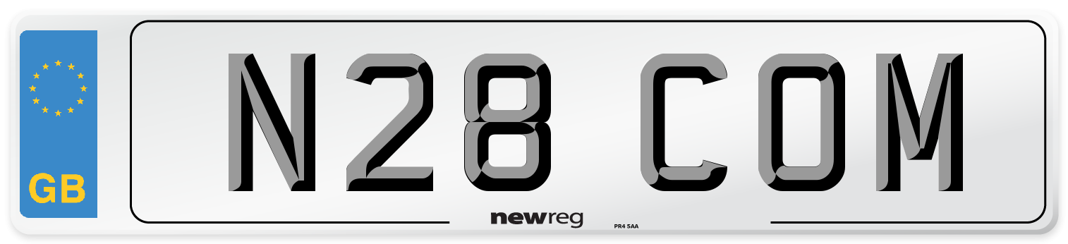 N28 COM Number Plate from New Reg