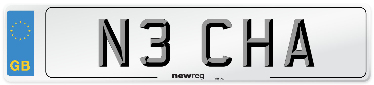 N3 CHA Number Plate from New Reg