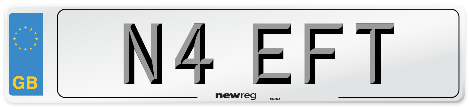 N4 EFT Number Plate from New Reg