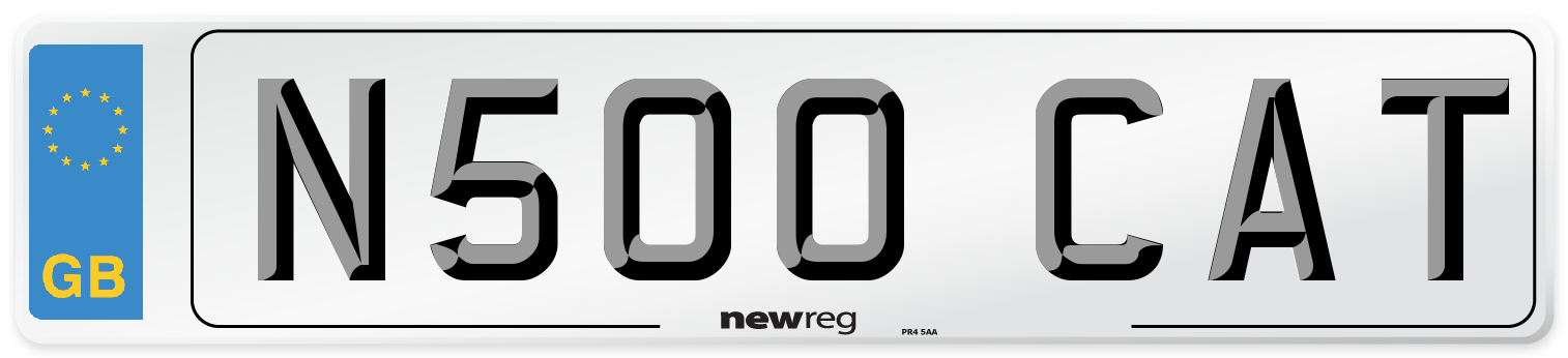 N500 CAT Number Plate from New Reg