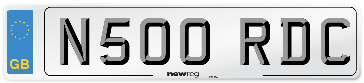 N500 RDC Number Plate from New Reg