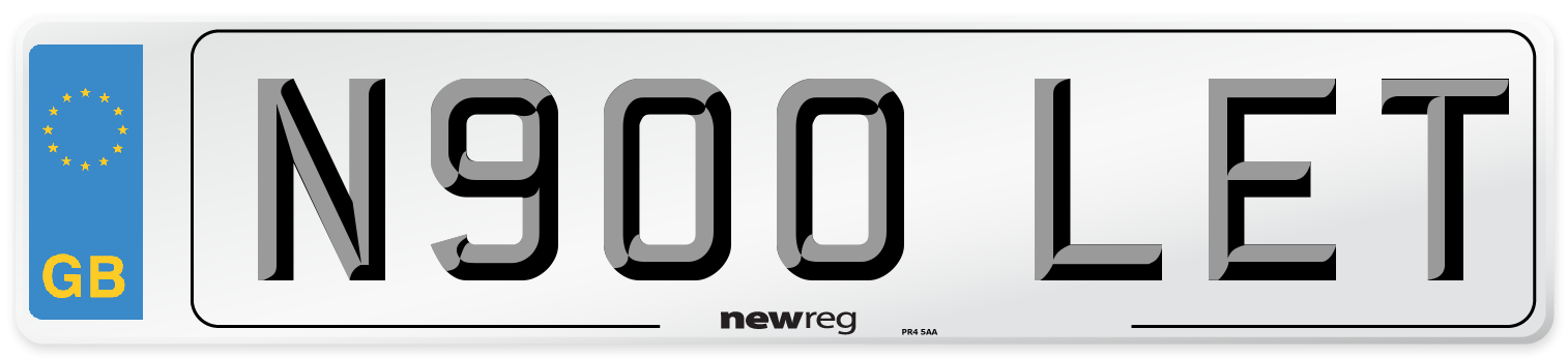 N900 LET Number Plate from New Reg