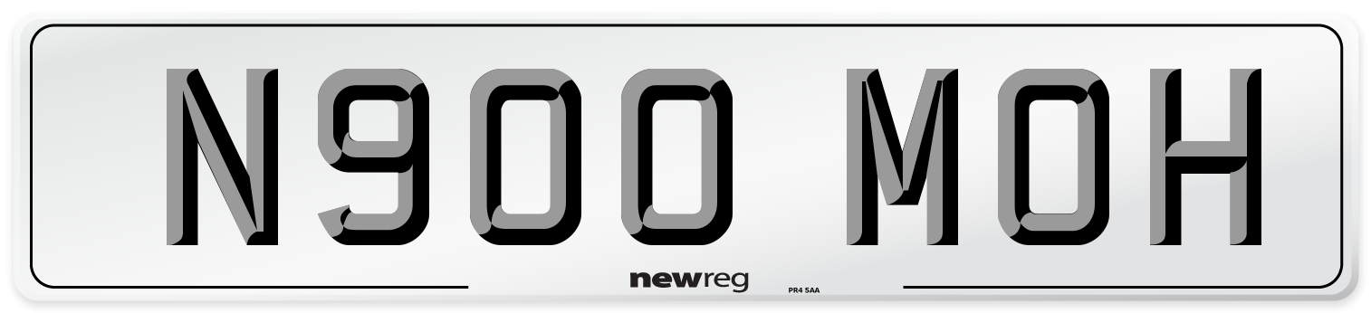 N900 MOH Number Plate from New Reg