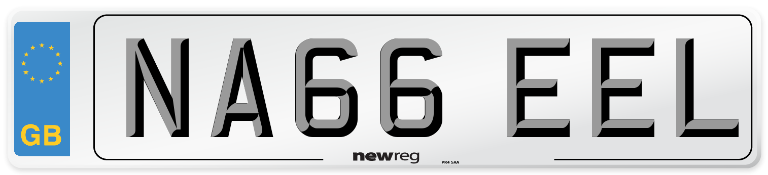 NA66 EEL Number Plate from New Reg