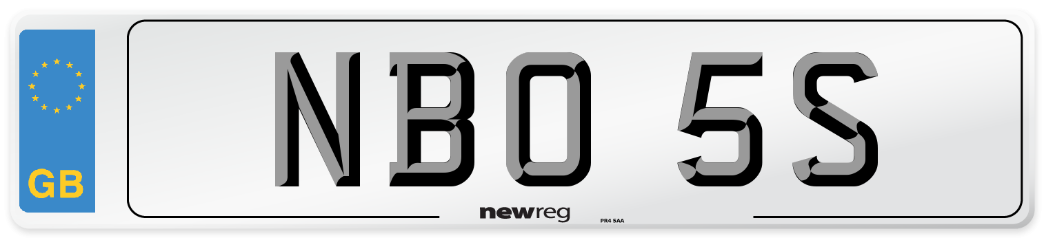 NBO 5S Number Plate from New Reg