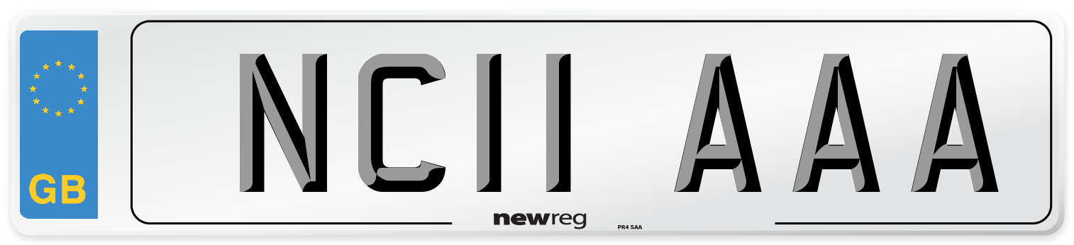 NC11 AAA Number Plate from New Reg