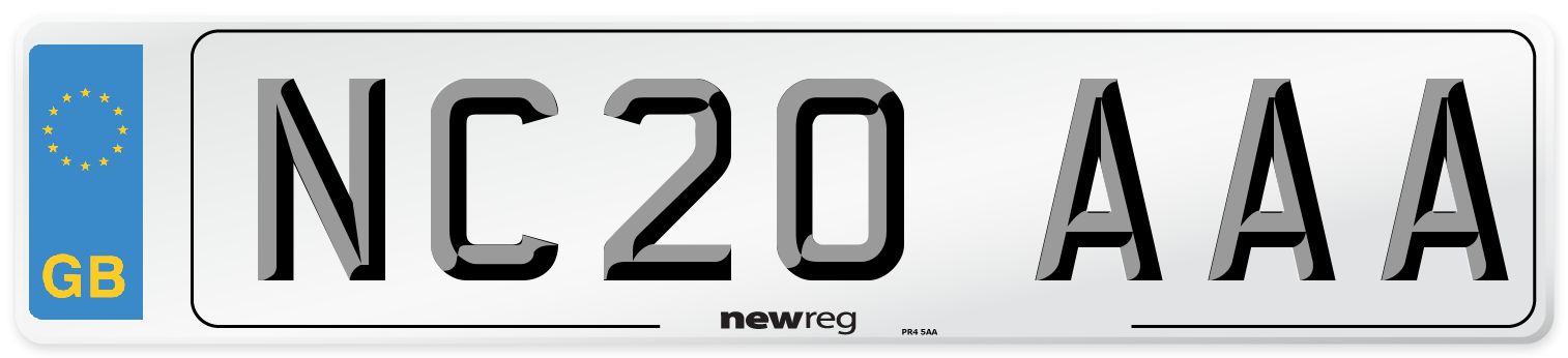 NC20 AAA Number Plate from New Reg