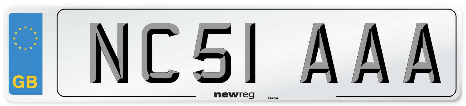 NC51 AAA Number Plate from New Reg