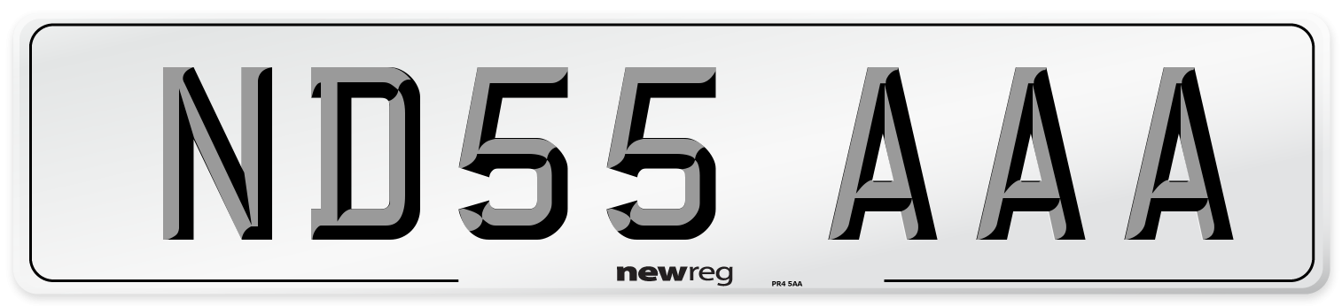 ND55 AAA Number Plate from New Reg