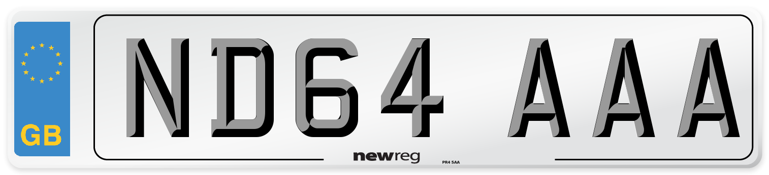 ND64 AAA Number Plate from New Reg