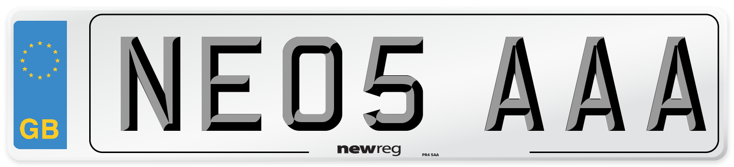 NE05 AAA Number Plate from New Reg