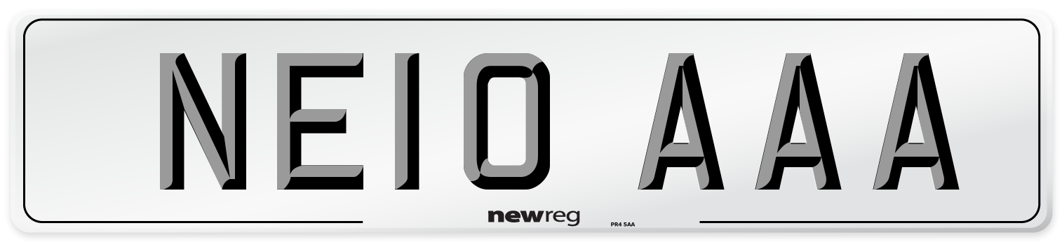 NE10 AAA Number Plate from New Reg