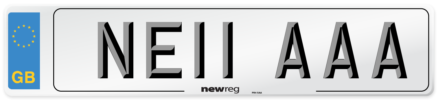NE11 AAA Number Plate from New Reg