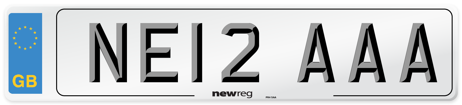 NE12 AAA Number Plate from New Reg