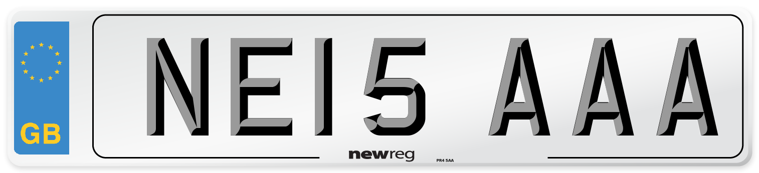 NE15 AAA Number Plate from New Reg