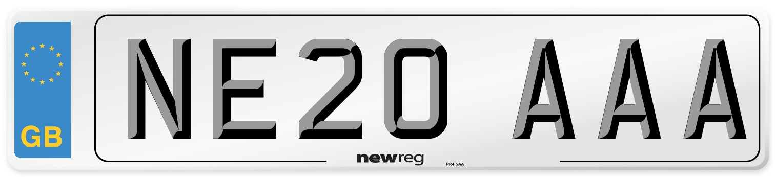 NE20 AAA Number Plate from New Reg