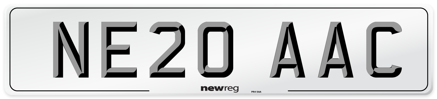 NE20 AAC Number Plate from New Reg