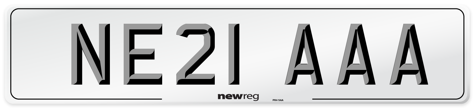 NE21 AAA Number Plate from New Reg