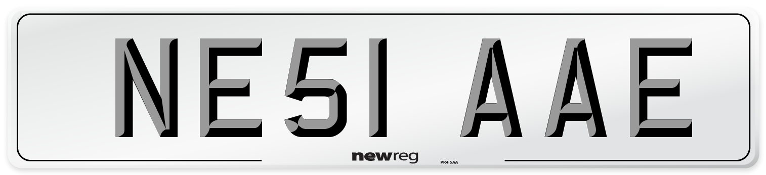 NE51 AAE Number Plate from New Reg