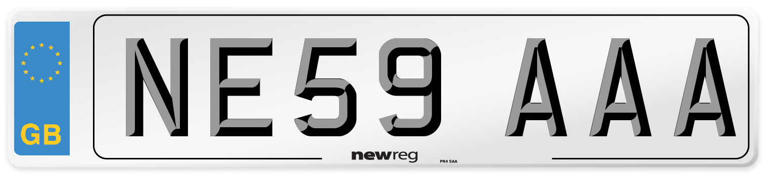 NE59 AAA Number Plate from New Reg