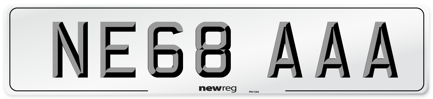 NE68 AAA Number Plate from New Reg