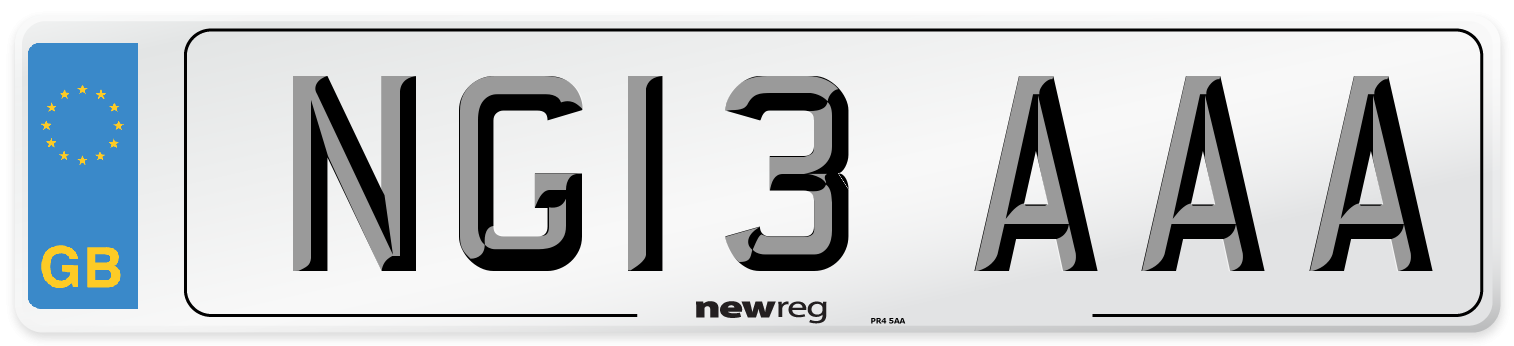 NG13 AAA Number Plate from New Reg