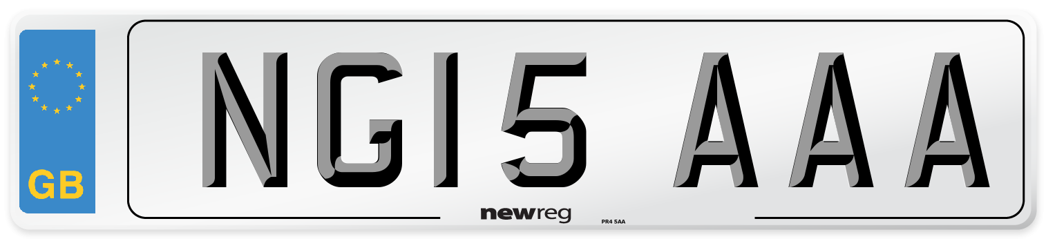 NG15 AAA Number Plate from New Reg