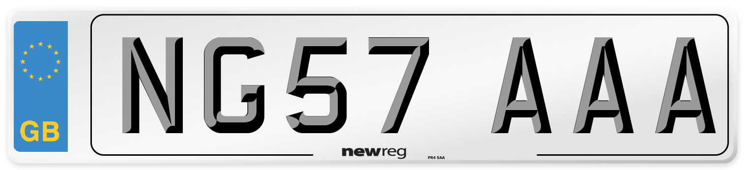 NG57 AAA Number Plate from New Reg