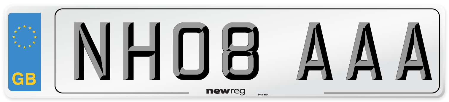 NH08 AAA Number Plate from New Reg