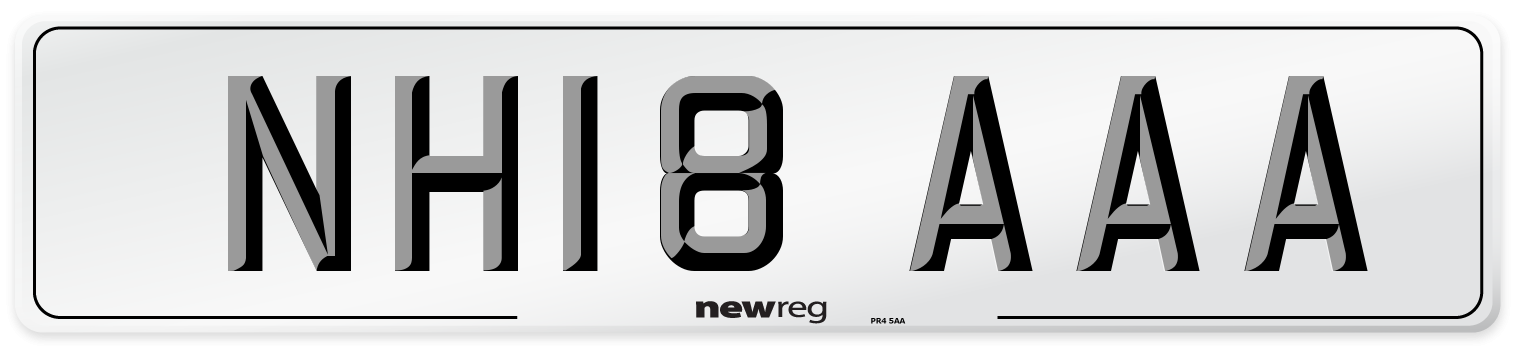 NH18 AAA Number Plate from New Reg