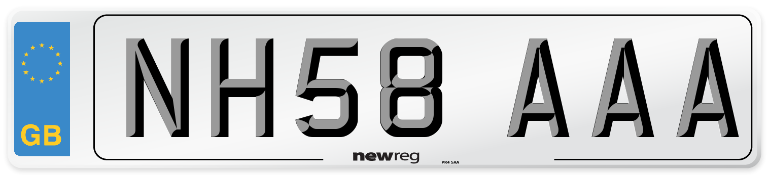 NH58 AAA Number Plate from New Reg
