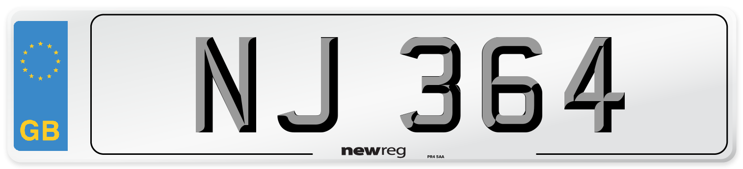 NJ 364 Number Plate from New Reg