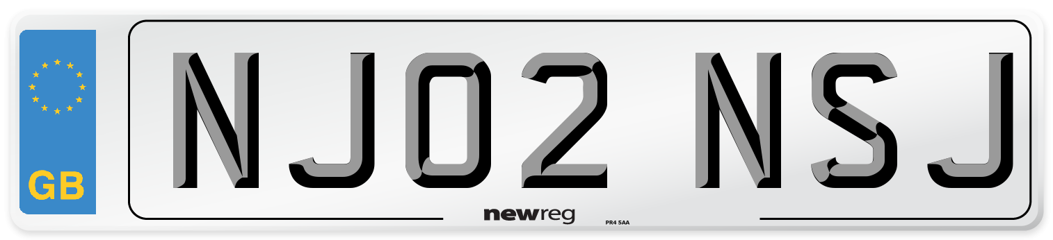 NJ02 NSJ Number Plate from New Reg