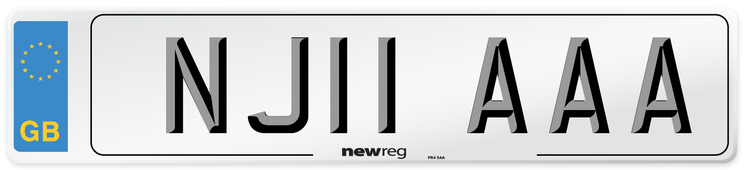 NJ11 AAA Number Plate from New Reg