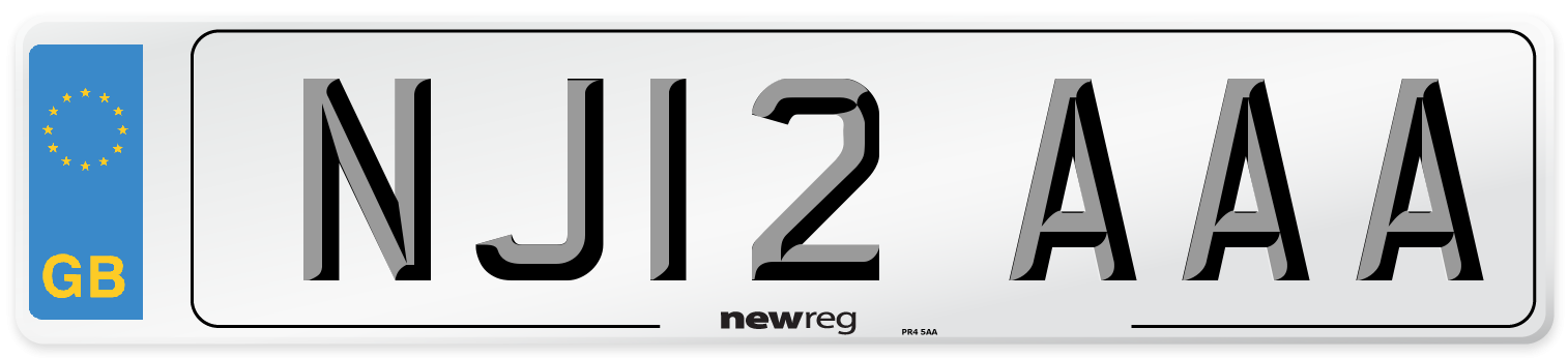NJ12 AAA Number Plate from New Reg