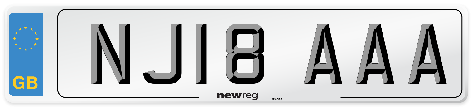 NJ18 AAA Number Plate from New Reg
