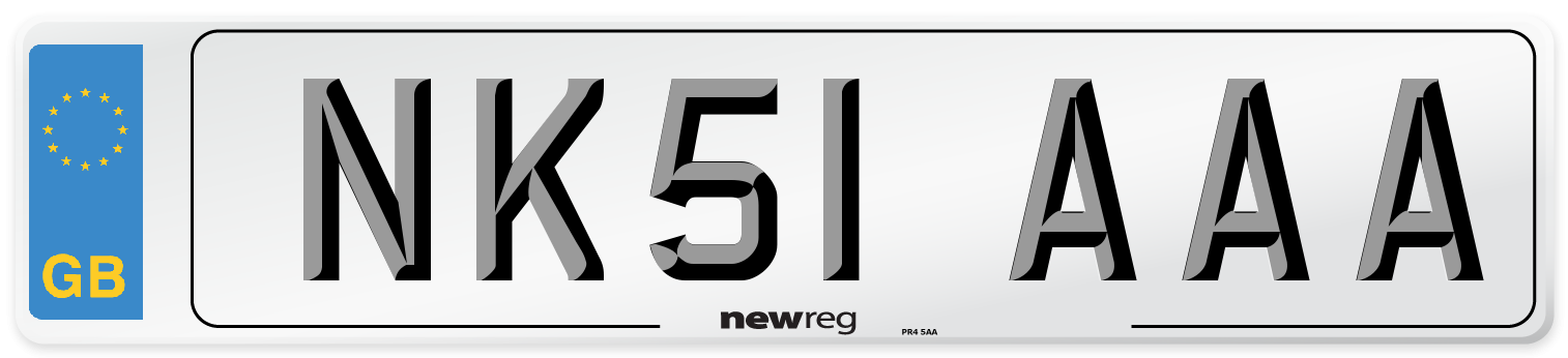 NK51 AAA Number Plate from New Reg
