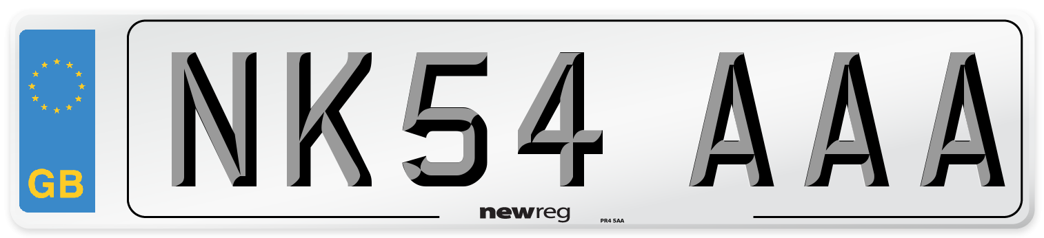 NK54 AAA Number Plate from New Reg